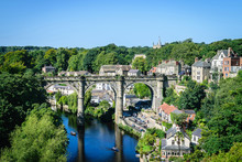 View Of Railway Viaduct Over The River Nidd, Knaresborough, North Yorkshire, UK