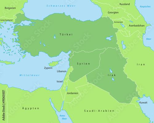Karte Syrien Irak.Turkei Syrien Irak Karte In Grun Buy This Stock Vector