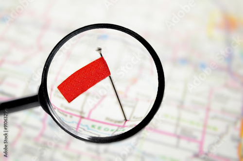 Fotografía  Locator flag