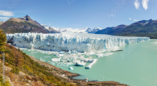 Printed kitchen splashbacks Glaciers Panoramic view, Perito Moreno Glacier, Argentina