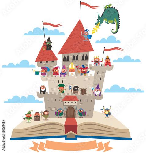 fototapeta na lodówkę Fairy Tale Book