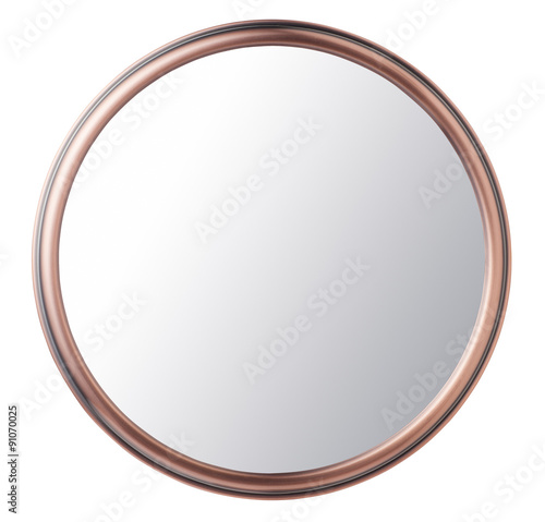 Fotografía Vintage makeup mirror isolated on white background