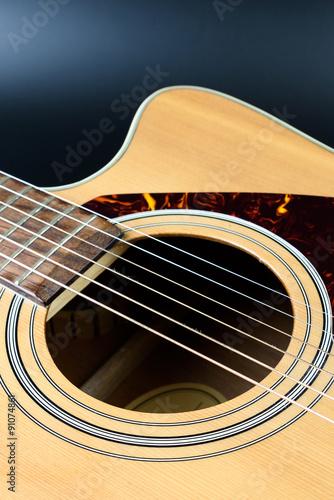Fotografie, Obraz  acoustic guitar Close-up