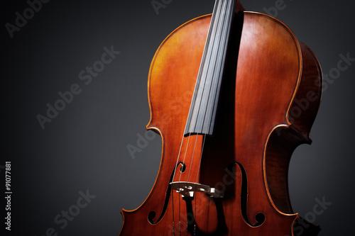 Fotografia Cello on dark background