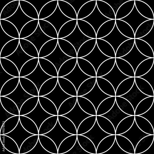 Vector Modern Seamless Geometry Pattern Circles Black And White Abstract Geometric Background Wallpaper Print Monochrome Retro Texture Hipster Fashion Design Buy This Stock Vector And Explore Similar Vectors At Adobe Stock