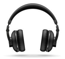 Acoustic Headphones Vector Ill...