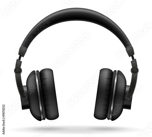 Fotografia  acoustic headphones vector illustration