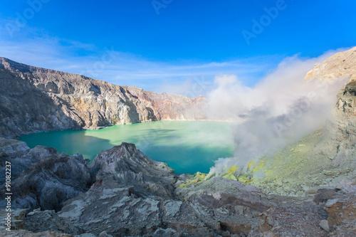 Staande foto Vulkaan Ijen volcano