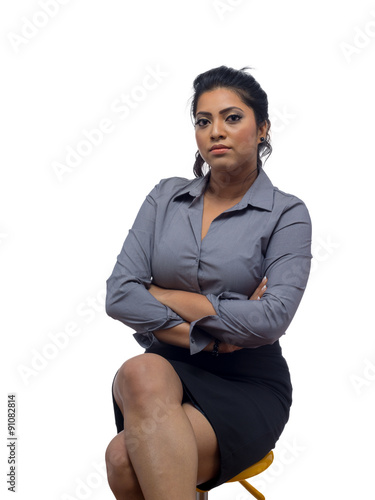 Valokuva  Asian Business Woman Isolated On White Background