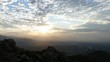 Los Angeles sunrise time lapse viewed from top Rocky Peak Mountain Park in the western San Fernando Valley.