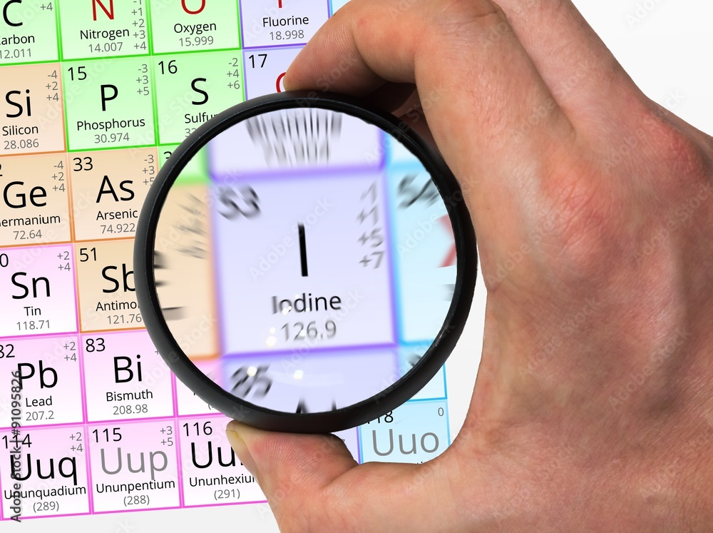 Photo Art Print Iodine Symbol I Element Of The Periodic Table