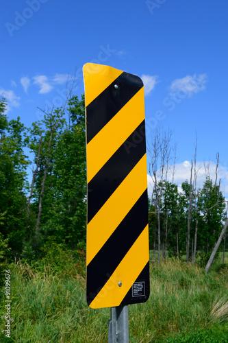 Fotografija  Object Marker Sign on Rural Road