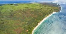 Molokai, Hawaii White Sand Beach Aerial View