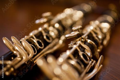 Fotografie, Obraz Fragment of the clarinet in dark colors