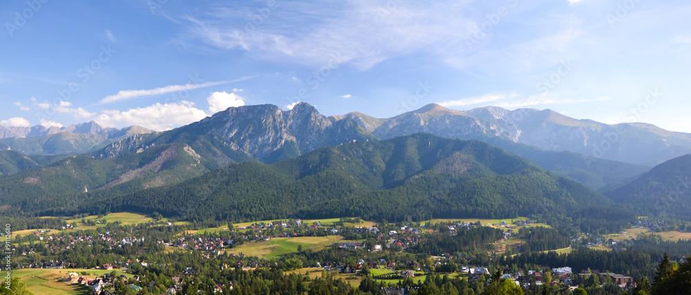 Fototapety, obrazy: Tatry Giewont panorama