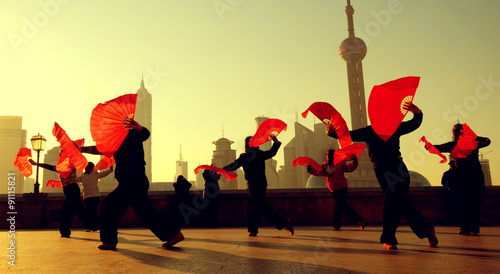 Foto op Aluminium Shanghai Traditional Chinese Culture Dance Showing Concept