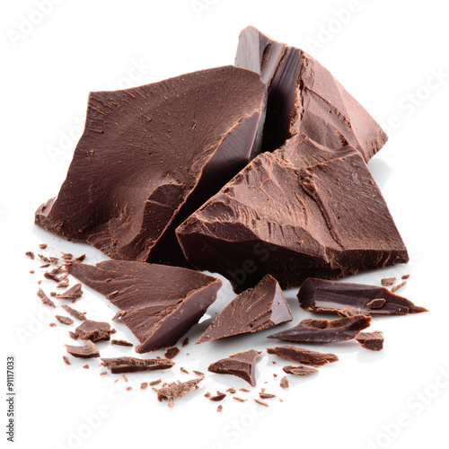 Fotografie, Obraz  Chocolate pieces