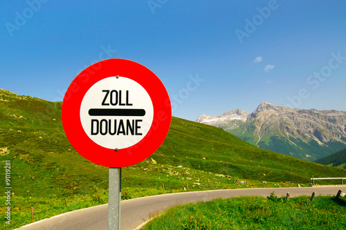 Fotografie, Obraz  Grenzübergang  Zoll -  Douane 1