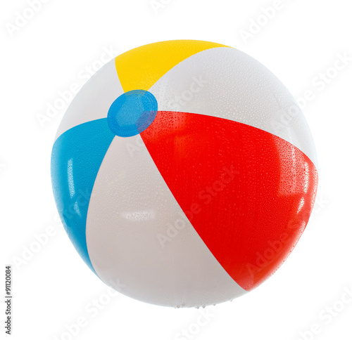 Foto op Plexiglas Bol multicolored beach ball. Isolation.series of images