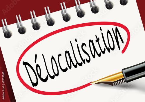 BLOC Delocalisation Billede på lærred