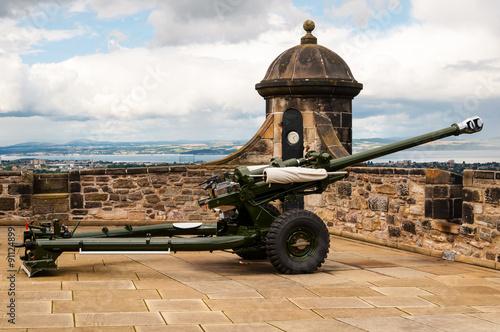 Foto op Plexiglas Xian one o'clock gun at edinburgh castle, scotland