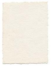Thick Textured Paper Isolated On White