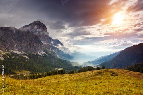 Fotobehang Landschap Italian dolomites