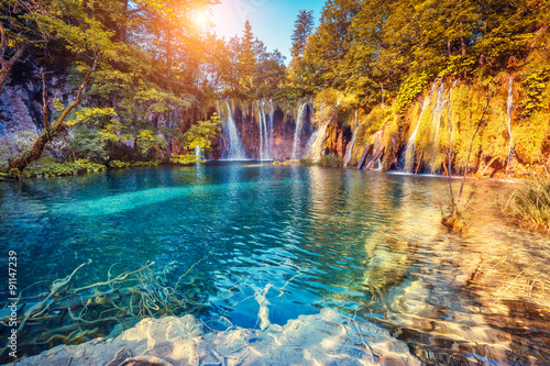 Photo sur Toile Cascade Plitvice Lakes National Park