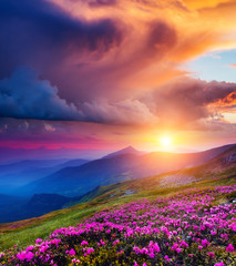 Fototapeta magical mountains landscape