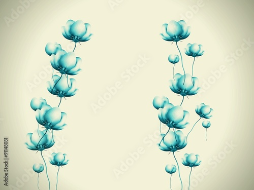 Fleurs Flowers Dessin Acheter Cette Illustration Libre De Droit