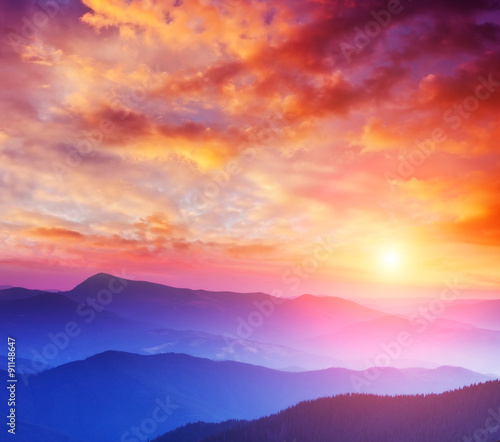 Wall mural - beautiful mountains landscape