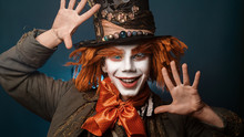 Man Dressed As The Mad Hatter Portrait
