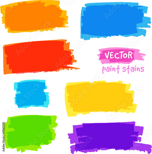 Finding Some Spots Of Bright Color At >> Bright Rainbow Colors Vector Pain Spots Set Buy This Stock Vector