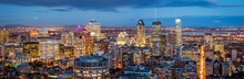 Montreal Panorama At Dusk As V...