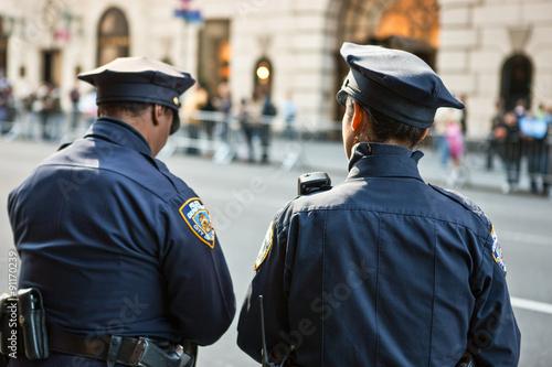 Fotografie, Obraz  U.S.A., New York, Manhattan,policemen on the 5th avenue