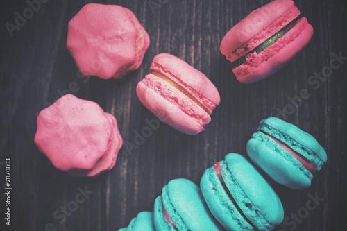 Fotobehang Macarons French macaroons.
