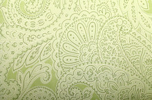 Vintage Grey And Green Wallpaper With Paisley Pattern