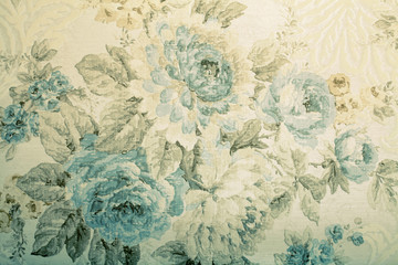 Vintage wallpaper with blue...
