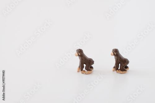 In de dag Aap 猿のミニチュア
