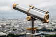 Wet telescope on top the Eiffel Tower