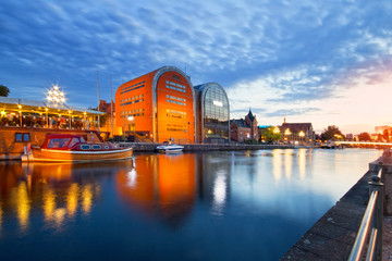 Bydgoszcz widok miasta o zmierzchu