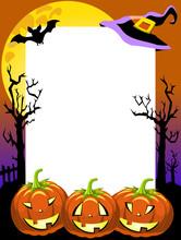Halloween Photo Frame Scary Pumpkins