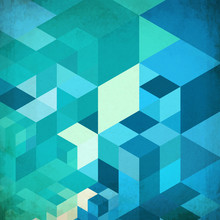 Bright Abstract Cubes Blue Vector Background