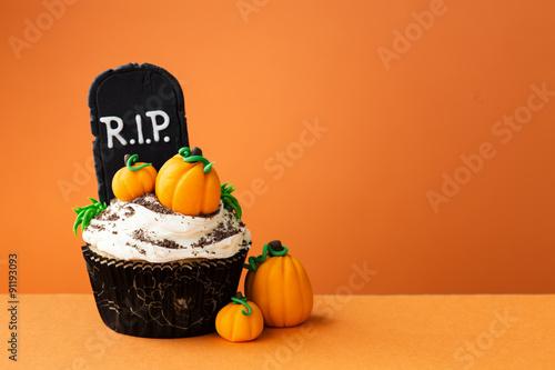 Photo  Halloween cupcake