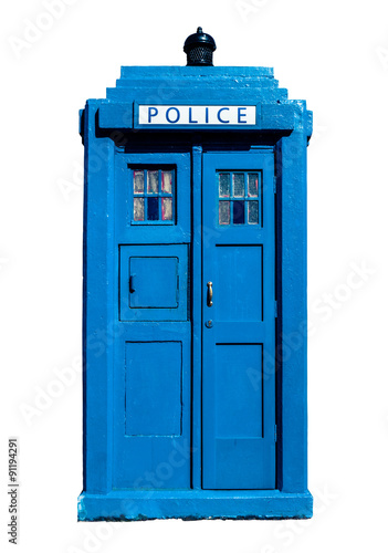 Canvas Print Traditional UK Police Box