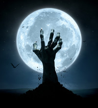 Halloween, Zombie Hand Rising Out Of The Grave