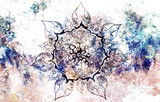oriental ornamental mandala and color abstract background  - 91211073