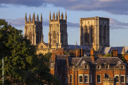 Montage in der Fensternische Nordeuropa York Minster in York, England.