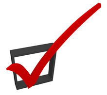 Red Check Mark Box Approved Good Accepted Rating Feedback Survey