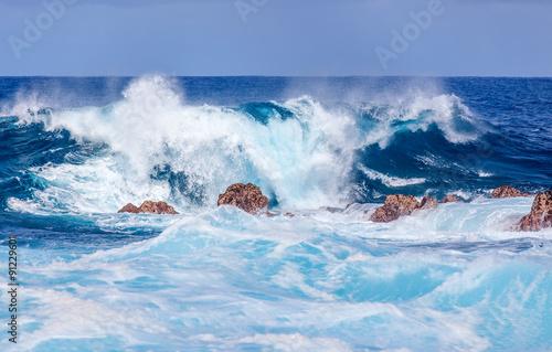 niebieska przerwa na południowym wybrzeżu Reunion